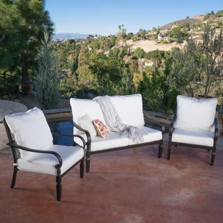 Christopher Knight Home Gatsby 3-piece Outdoor Set with Sunbrella Cushions