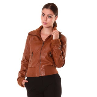 Hadari Women's Brown Leather Jacket