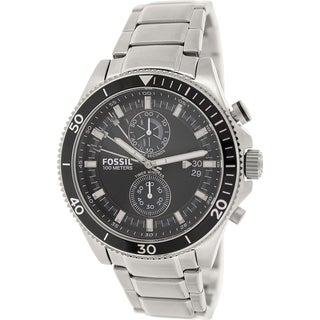 Fossil Men's Wakefield CH2935 Silver Stainless-Steel Quartz Watch with Black Dial