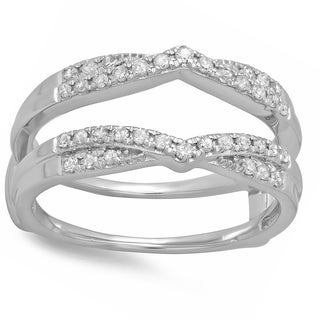 14k White Gold 1/3ct TDW Diamond Wedding Band Enhancer Ring (H-I, I1-I2)
