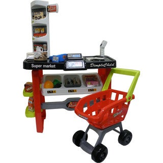 DimpleChild Battery Operated Deluxe Supermarket Playset