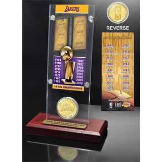 NBA Los Angeles Lakers 16-time NBA Champions Ticket and Bronze Coin Acrylic Desk Top