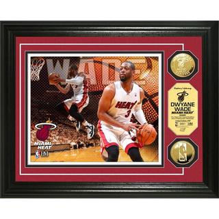 NBA Dwayne Wade Gold Coin Photo Mint