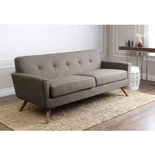 ABBYSON LIVING Bradley Khaki Tufted Fabric Sofa