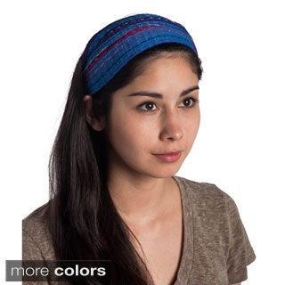 Hand-woven Expandable Boho Bandanna Style Headband (Guatemala)