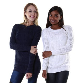 Hadari Women's Two Set Bundle Knit Sweaters