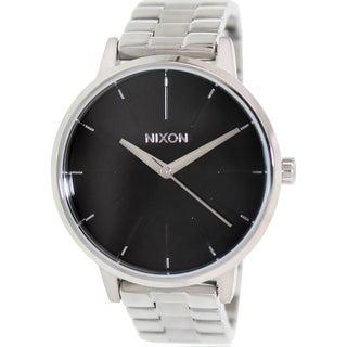 Nixon Men's Kensington A099000 Silver Stainless-Steel Quartz Watch with Black Dial