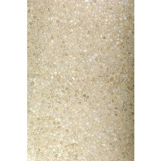 Hair On Hide White Area Rug (5' x 8')