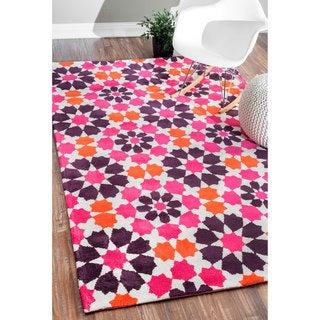nuLOOM Modern Suzani Orange Rug (7'6 x 9'6)