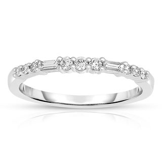 Eloquence 14k White Gold 1/4ct TDW Fashion Diamond Band (H-I, I1-I2)