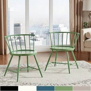 INSPIRE Q Truman Low Back Windsor Classic Side Chair (Set of 2)