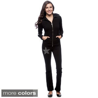 Tabeez Women's Diamond Embellished Track Suit