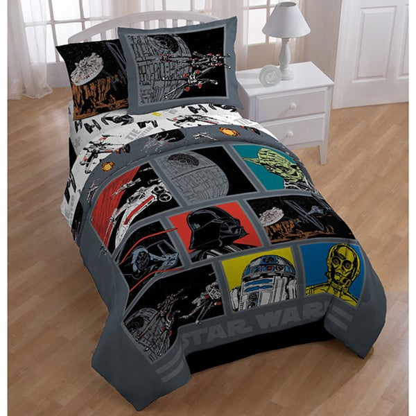 Star Wars Death Star 7 Piece Bed In A Bag With Darth Vader