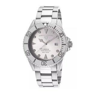 Swiss Legend Men's SL-21344-22S Luminous Silver Watch
