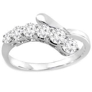 14k White Gold 3/4ct TDW Diamonds Journey Ring (H-I, I1-I2)