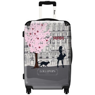 Murano by iKase Grey Lollipops 24-inch Hardside Spinner Upright Suitcase
