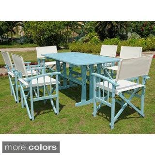 International Caravan Messina Acacia Hardwood Outdoor 7-piece Dining Set