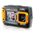 20MP Orange Waterproof Digital Camera Video Recorder