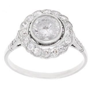 Pre-owned Platinum 1 3/5ct TDW Antique Engagement Ring (I-J, I3)