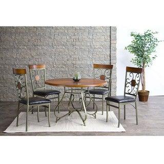 Baxton Studio Novara Metal Modern Dining Chairs (Set of 4)