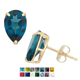 Gioelli 10k Yellow Gold Birthstone Stud Earrings