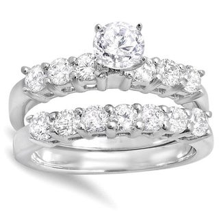 14k White Gold 1 3/4ct TDW Round Diamond Bridal Engagement Ring (H-I, I1-I2)