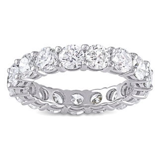 Miadora 18k White Gold 4 1/4ct TDW Diamond Eternity Ring (G-H, I1-I2)