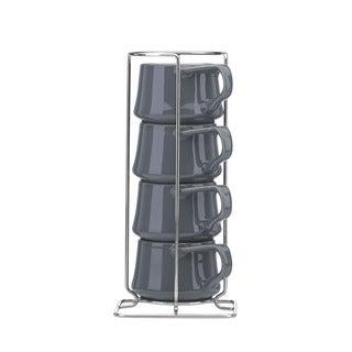 Lenox Kobenstyle Slate 4-piece Demitasse Cup Set with Rack