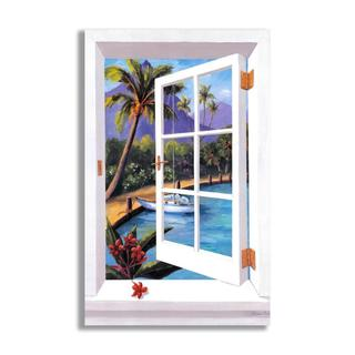 Tropical Faux Window Scene