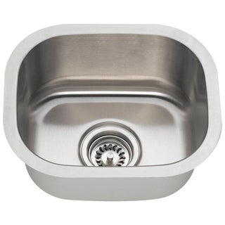 MR Direct 1512 Brushed Satin Stainless Steel Bar Sink