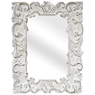 Legion Furniture Antique White Traditional Wall Mirror