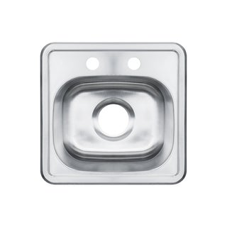 15-Inch Single Bowl Stainless Steel Top-mount Kitchen Sink