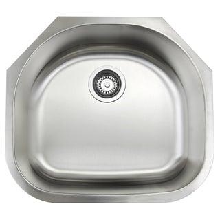 Single Bowl 23-Inch Stainless Steel Undermount Kitchen Sink