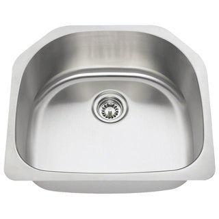 MR Direct 2421 Single Bowl Stainless Steel Kitchen Sink