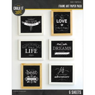 Chalk It Now Paper Pack 6/Sheets-Frame Art