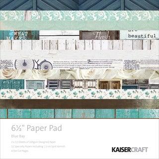 "Kaisercraft Paper Pad 6.5""X6.5"" -Blue Bay"