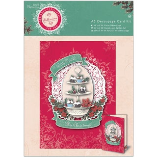 Papermania Bellissima Christmas A5 Decoupage Card Kit