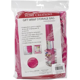 Gift Wrap Storage Holder-Fuchsia