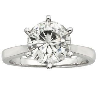 Charles & Colvard 14k Gold 3.10 TGW Round Forever Brilliant Moissanite Solitaire Ring