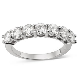 Charles and Colvard 14k White Gold 1/4ct TGW Forever Brilliant Moissanite Bridal Ring