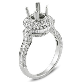 14k White Gold 2ct TDW Diamond Semi Mount Engagement Ring (H-I, I1-I2)