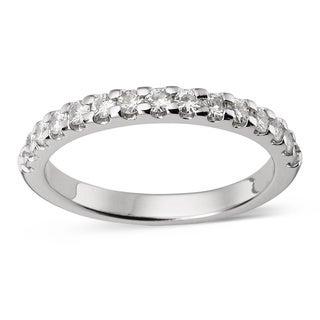 Charles & Colvard Created Moissanite 14k White Gold Forever Prong-set Brillant Moissanite Bridal Ring