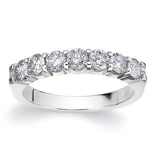 Amore Platinum 1ct TDW 7-stone Shared Prong Diamond Ring (G-H, SI1-SI2)