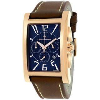 Christian Van Sant CV4514 Men's Cannes Square Brown Strap Watch