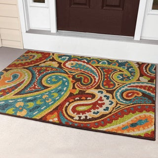 "Promise Collection Monteray Multi Olefin Indoor/Outdoor Area Rug (3'10"" x 5'5"")"