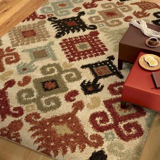 """Euphoria Collection Chanelle Ivory Olefin Area Rug (7'10"""" x 10'10"""")"""