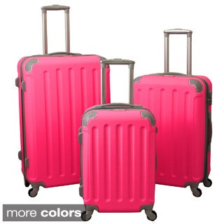 Departures 3-Piece Hardside Spinner Luggage Set With Combination Lock