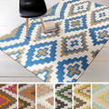 Beth Lacefield Hand-woven Freda Reversible Wool Rug (8' x 11')