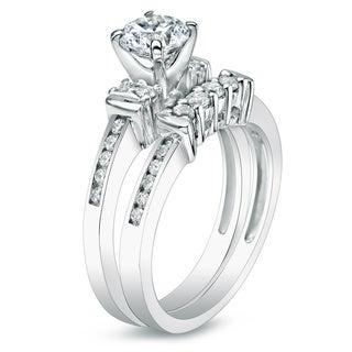 Auriya 14k Gold 1ct TDW Round Diamond Bridal Ring Set (H-I, I1-I2)