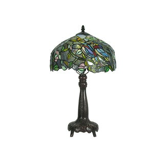 Tiffany-style Therese Leafy Table Lamp
